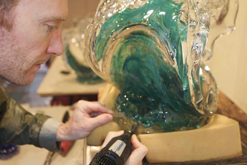 In the Studio - David Wight Glass Art