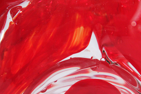 Red Glass Wave Color Option - David Wight Glass Art