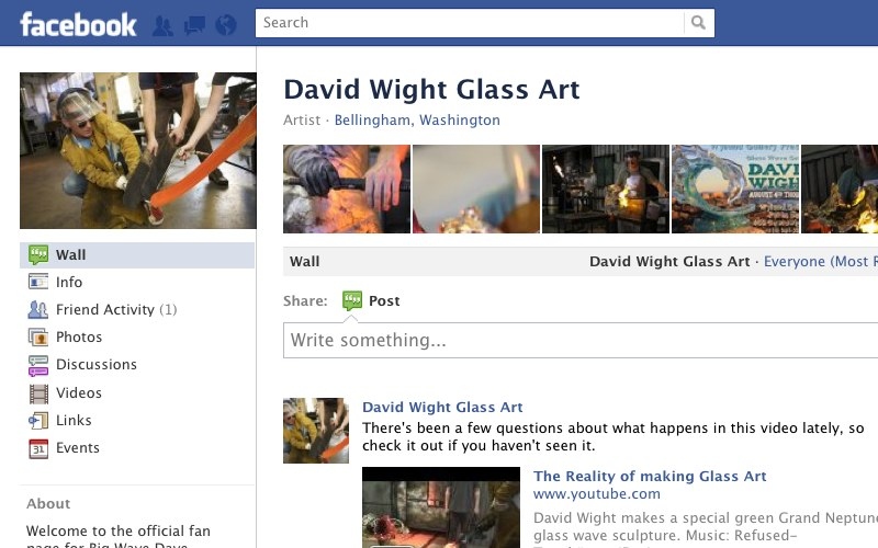 Check out the David Wight Glass Art Facebook page