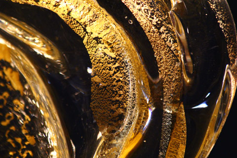 Gold Wave Close Up - David Wight Glass Art